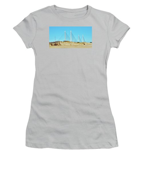 Inlet Bridge Beach View Women's T-Shirt (Athletic Fit)