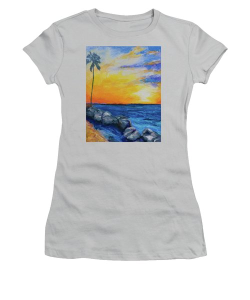 Women's T-Shirt (Junior Cut) featuring the painting Island Time by Stephen Anderson