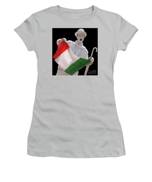 Italian Charlie Chaplin Women's T-Shirt (Athletic Fit)