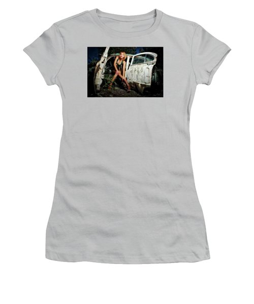 Izzy's Buick Women's T-Shirt (Junior Cut) by Jerry Golab