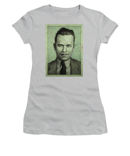 John Dillinger Women's T-Shirt (Junior Cut)