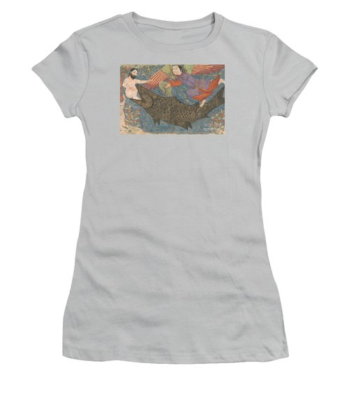 Jonah And The Whale Women's T-Shirt (Junior Cut) by Iranian School