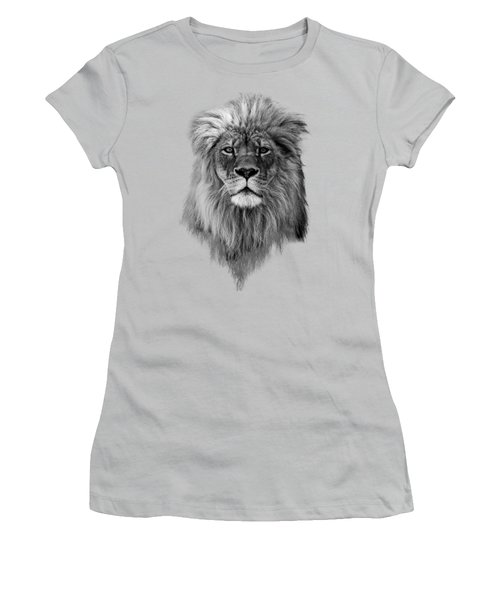 Joshua In Black And White Women's T-Shirt (Junior Cut) by Everet Regal