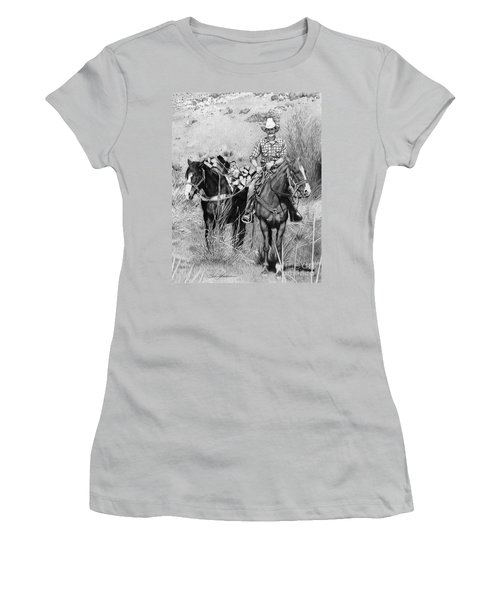 Just Another Western Workday Women's T-Shirt (Athletic Fit)