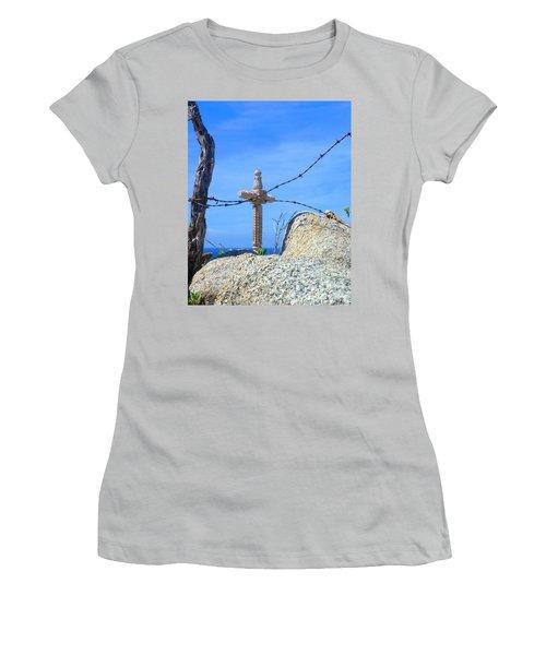 Just Beyond Women's T-Shirt (Junior Cut) by Barbie Corbett-Newmin