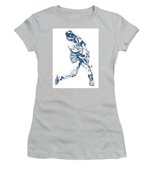 Justin Turner Los Angeles Dodgers Pixel Art 10 Women's T-Shirt (Athletic Fit)