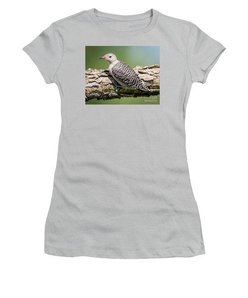 Juvenile Red-bellied Woodpecker Women's T-Shirt (Junior Cut) by Ricky L Jones