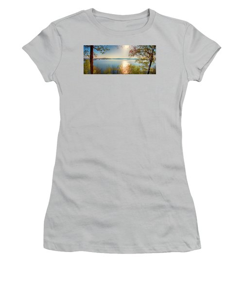 Women's T-Shirt (Athletic Fit) featuring the photograph Kentucky Lake by Ricky L Jones