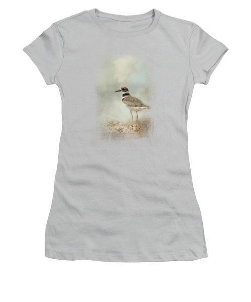 Killdeer On The Rocks Women's T-Shirt (Junior Cut) by Jai Johnson