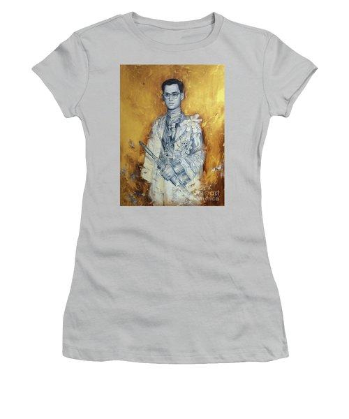 King Phumiphol Women's T-Shirt (Junior Cut)