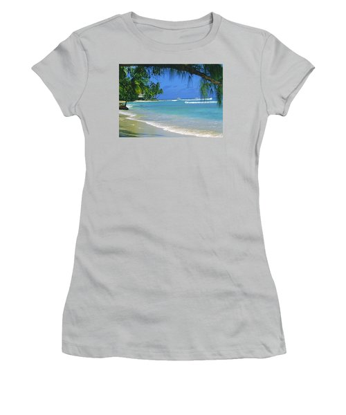 King's Beach, Barbados Women's T-Shirt (Athletic Fit)