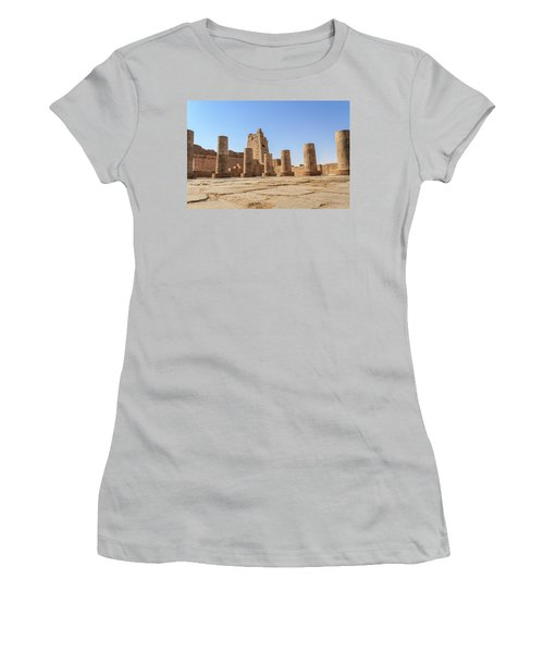 Women's T-Shirt (Athletic Fit) featuring the photograph Kom Ombo by Silvia Bruno