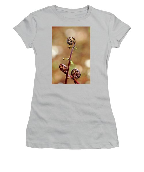 Lady Fern Spirals Women's T-Shirt (Athletic Fit)