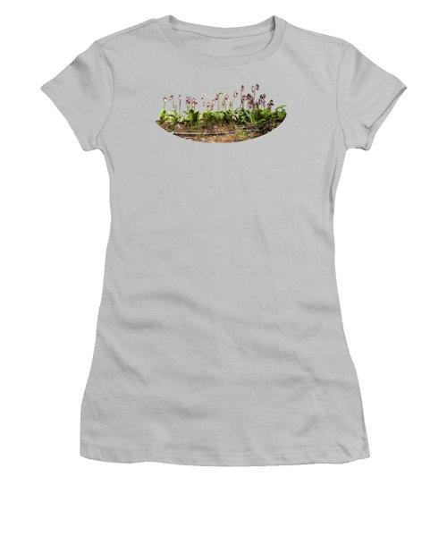 Lady Slippers Women's T-Shirt (Junior Cut) by Daniel Hebard