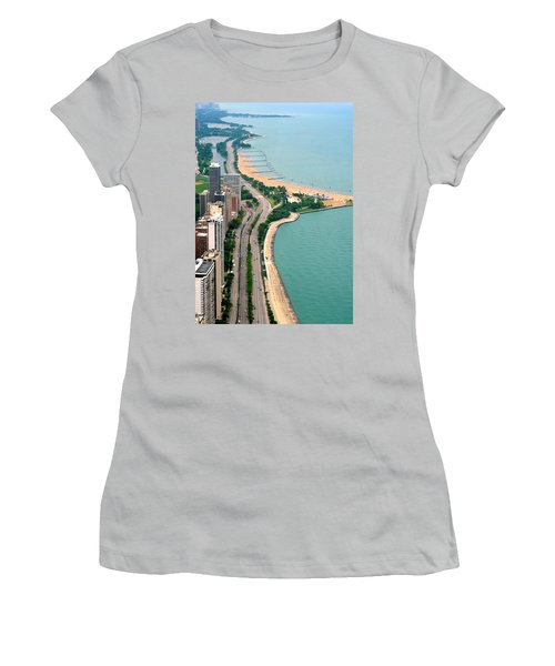 Lake Shore Dr . Chicago Women's T-Shirt (Athletic Fit)