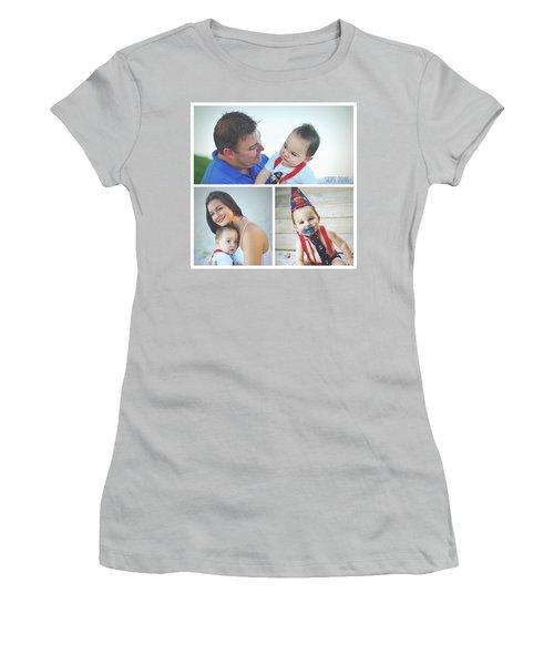 Landon Collage  Women's T-Shirt (Junior Cut) by Robert Smith