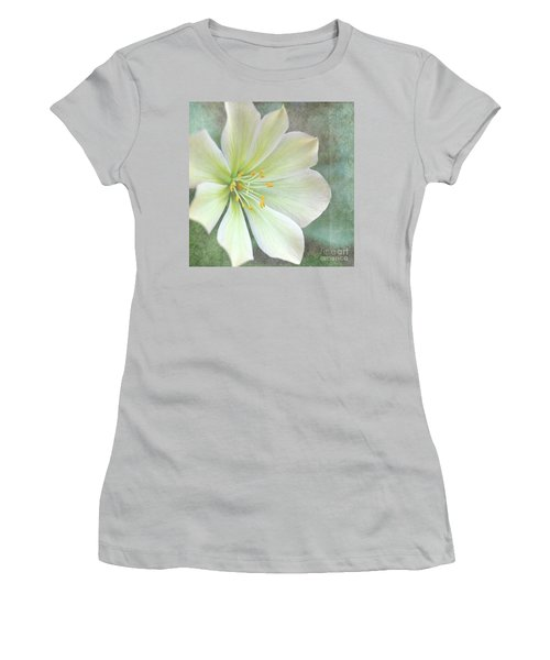 Large Flower Women's T-Shirt (Athletic Fit)