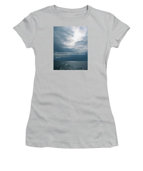 Launch Yourself On Every Wave Women's T-Shirt (Junior Cut) by Deborah Dendler