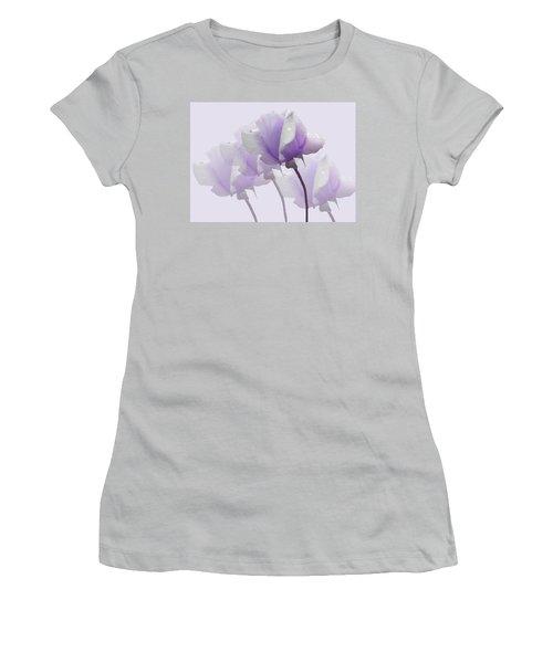 Lavender Roses  Women's T-Shirt (Junior Cut) by Rosalie Scanlon