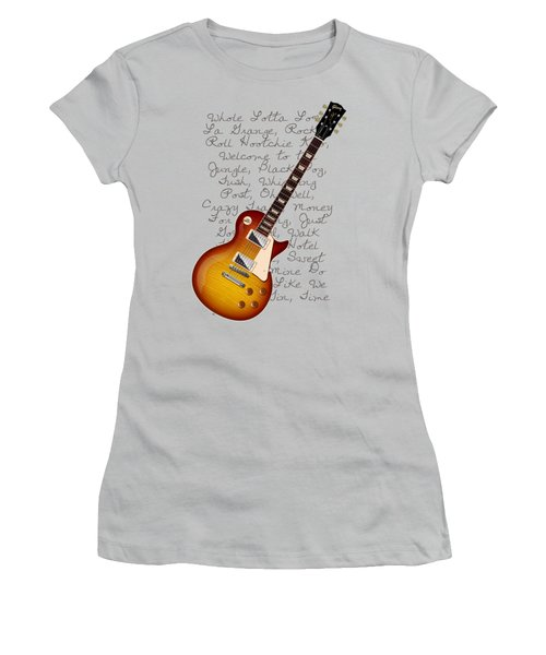 Les Paul Songs T-shirt Women's T-Shirt (Junior Cut) by WB Johnston