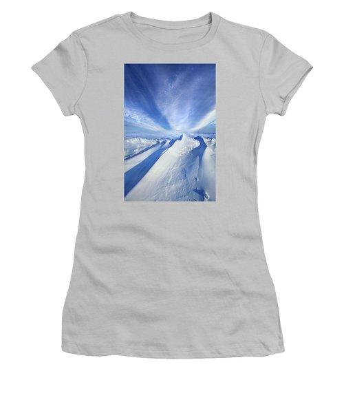 Women's T-Shirt (Junior Cut) featuring the photograph Life Below Zero by Phil Koch