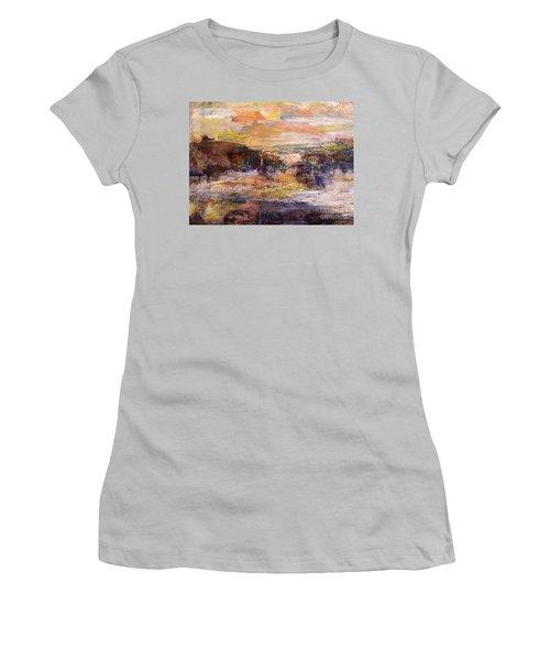 Light Show At Dawn Women's T-Shirt (Junior Cut) by Nancy Kane Chapman