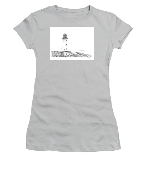 Lighthouse Of Peggy's Cove Women's T-Shirt (Athletic Fit)