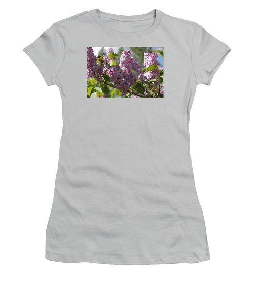 Women's T-Shirt (Junior Cut) featuring the photograph Lilacs 5548 by Antonio Romero