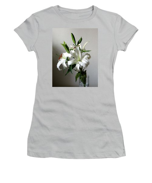 Lily Flower Women's T-Shirt (Athletic Fit)