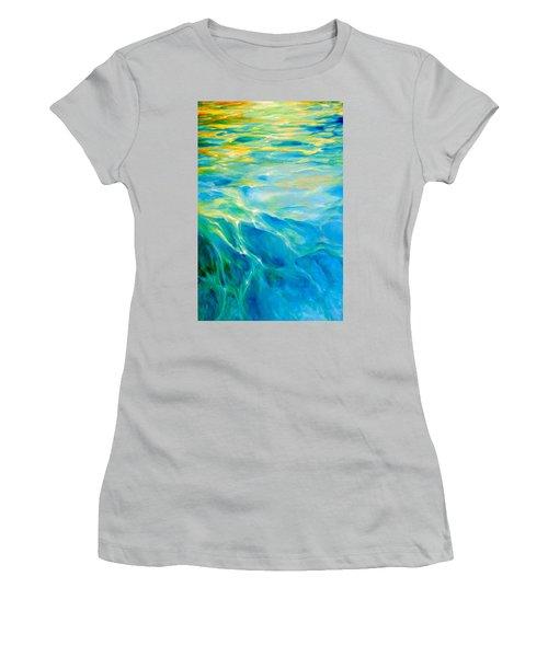 Liquid Gold Women's T-Shirt (Junior Cut) by Dina Dargo