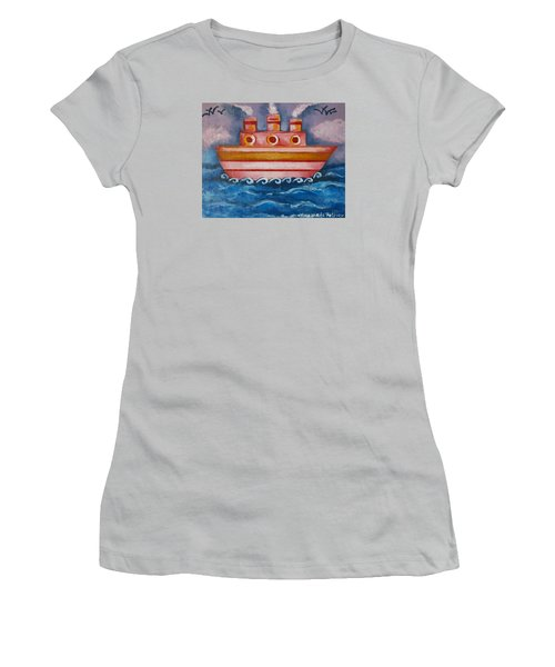 Little Pink Ship Women's T-Shirt (Athletic Fit)
