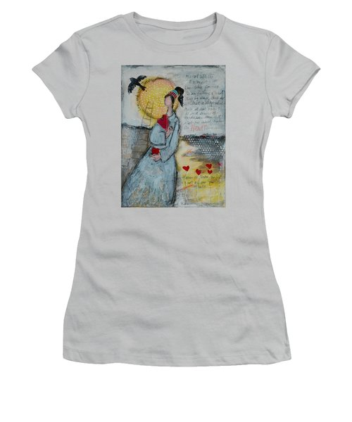 Live Joyfully  Women's T-Shirt (Junior Cut) by Sharon Furner
