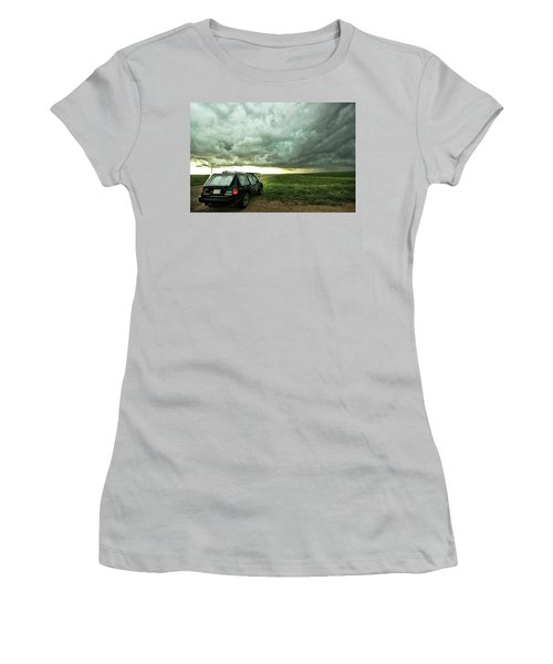 Living Saskatchewan Sky Women's T-Shirt (Junior Cut) by Ryan Crouse