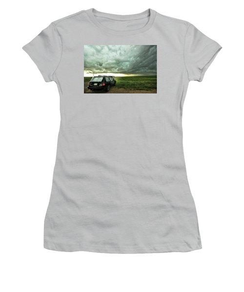 Women's T-Shirt (Junior Cut) featuring the photograph Living Saskatchewan Sky by Ryan Crouse
