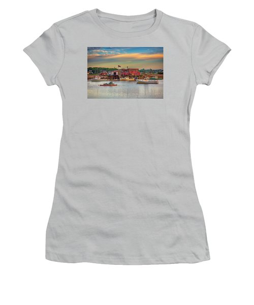 Women's T-Shirt (Athletic Fit) featuring the photograph Lobsters by Rick Berk