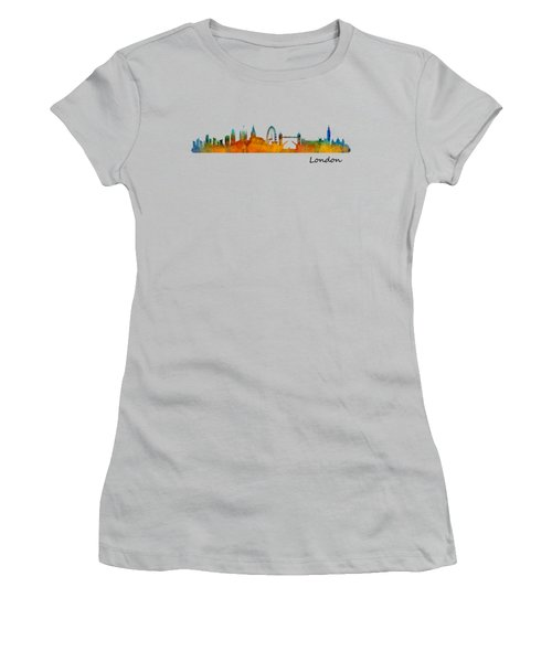London City Skyline Hq V1 Women's T-Shirt (Junior Cut) by HQ Photo