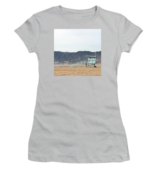 Lone Lifeguard Tower Women's T-Shirt (Athletic Fit)