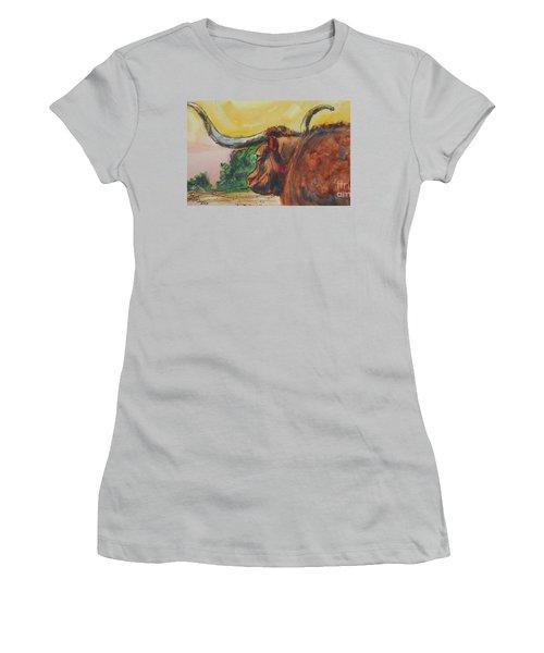 Lonesome Longhorn Women's T-Shirt (Junior Cut)