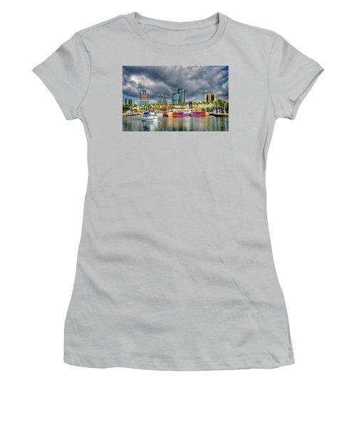 Long Beach Shoreline Marina Women's T-Shirt (Athletic Fit)