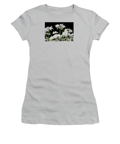 Looking Up At At Daisies Women's T-Shirt (Junior Cut) by Dorothy Cunningham