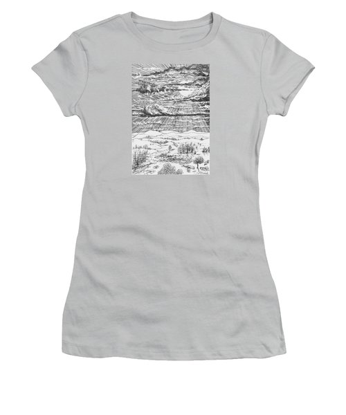 Looming Snowstorm Women's T-Shirt (Junior Cut) by Charles Cater