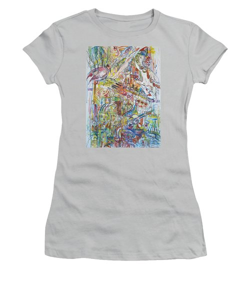 Love And Music Women's T-Shirt (Athletic Fit)