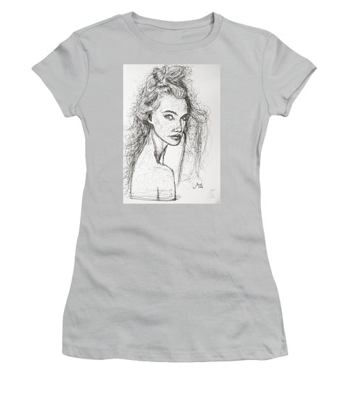 Women's T-Shirt (Junior Cut) featuring the drawing Love Is A Many-splendored Thing by Jarko Aka Lui Grande