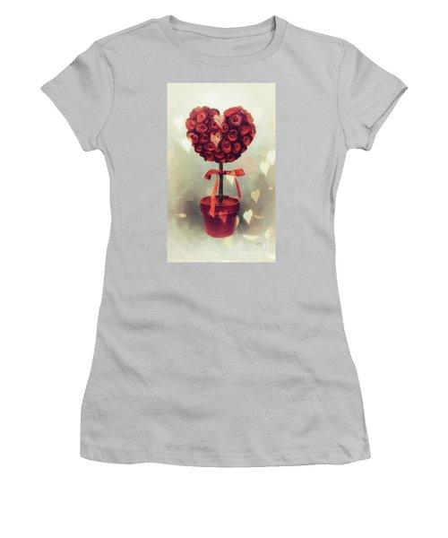 Women's T-Shirt (Junior Cut) featuring the digital art Love Is In The Air by Lois Bryan