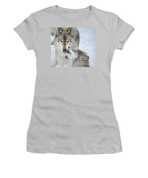 Women's T-Shirt (Junior Cut) featuring the photograph Love You Dad.. by Nina Stavlund