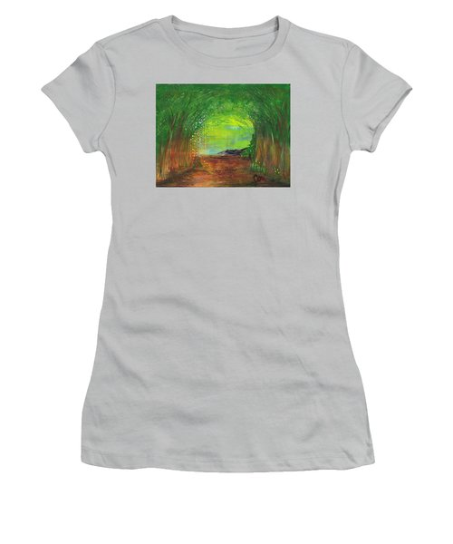 Luminous Path Women's T-Shirt (Athletic Fit)