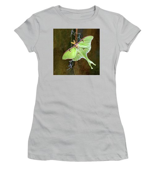 Luna Moth Women's T-Shirt (Junior Cut) by Thanh Thuy Nguyen