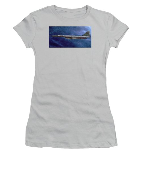 Women's T-Shirt (Junior Cut) featuring the painting M50 Myasishchev  by Michael Cleere
