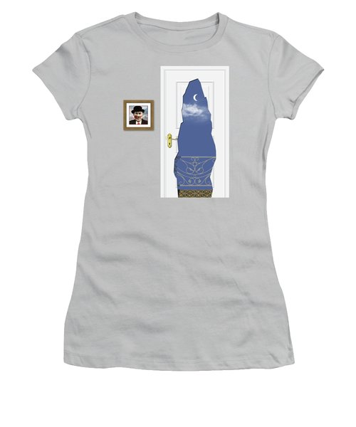Magritte Balcony Women's T-Shirt (Athletic Fit)