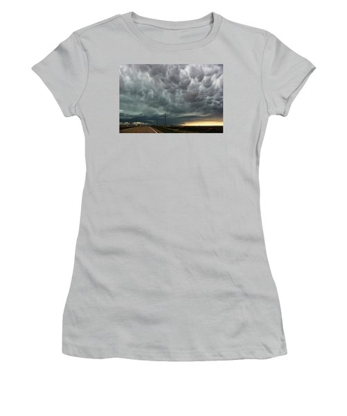 Mammatus Over Montata Women's T-Shirt (Junior Cut) by Ryan Crouse